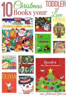 Stickers & Glitter: 10 Christmas Books your Toddler will Love