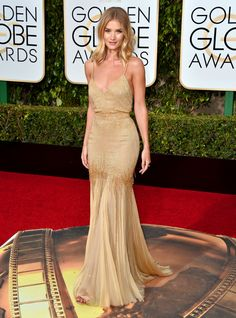 Rosie Huntington-Whitely: http://www.stylemepretty.com/2016/01/11/golden-globes-best-dressed-celebrities/