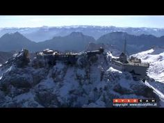 Flug zur Zugspitze - GYROCAM Zugspitze in HDTV.. At the age of 13, I took this trip up this mountain..beautiful!