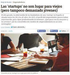 Las 'startups' no son lugar para viejos (pero tampoco demasiado jóvenes) / @hojaderouter | #readyforinnovation #readyforbusiness #readytowork