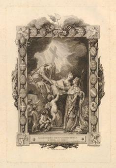 Allegory on the coronation of Louis XVI, lettered state of frontispiece to Abbé…