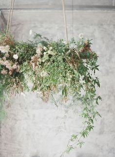 Modern industrial meets chic organic style via Magnolia Rouge hanging flower installation Elegant Wedding, Floral Wedding, Wedding Flowers, Trendy Wedding, Perfect Wedding, Wedding Dresses, Fall Wedding, Wedding Greenery, Romantic Weddings