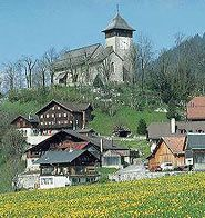 Chateau d'Oex...my Grandfather is from here and the church in this picture is where he married my grandmother.