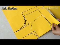 Size Katori Blouse Paper Cutting simple and easy method of katori blouse paper cutting. New Saree Blouse Designs, Blouse Back Neck Designs, Fancy Blouse Designs, Girls Dresses Sewing, Sewing Kids Clothes, Diy Clothes, Blouse Tutorial, Sleeves Designs For Dresses, Fashion Sewing
