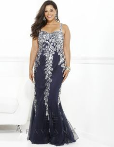 f0063c1b412 Sexy sequin embellished navy blue prom dress plus size 2013 by Faviana Plus  Size Gowns