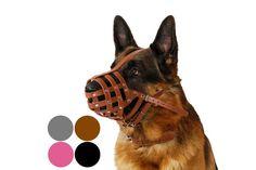 German Shepherd Secure Genuine Leather Basket Dog by CollarDirect