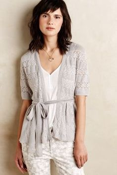 Knitted & Knotted Lace Stitch Cardigan #anthrofave