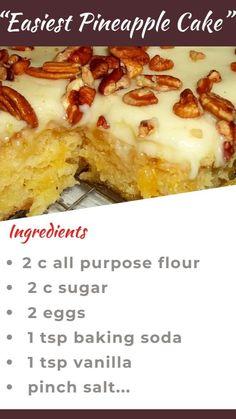 Delicious Cake Recipes, Cake Mix Recipes, Pound Cake Recipes, Yummy Cakes, Sweet Recipes, Baking Recipes, Dessert Recipes, Yummy Food, Dessert Dishes