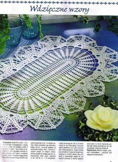 crochet monthly magazine needle oval crochet doily with diagram ccuart Images