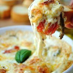 Caprese Pizza Dip Recipe