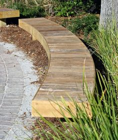 Image result for curve timber seating