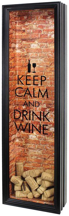 Keep Calm... Wine Cork Frame