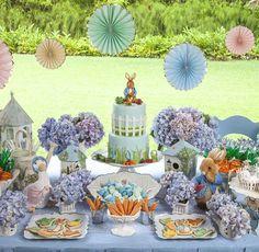 Detalle decoración mesa Peter Rabbit