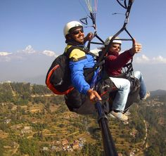 Paragliding in the Nepal Himalaya