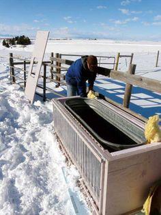 DIY Solar Heated Stock Tank
