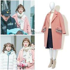 "1,718 lượt thích, 21 bình luận - @kdrama_fashion trên Instagram: ""Lee Sung Kyung wore CC COLLECT. 16FW Coat _ Pink ₩599,000 in Weightlifting Fairy Kim Bok Joo Drama…"""