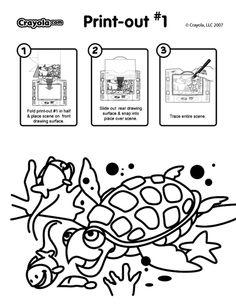 sea turtle coloring page crayolacom