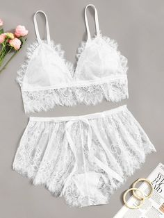 To find out about the Plus Floral Lace Lingerie Set at SHEIN, part of our latest Plus Size Sexy Lingerie ready to shop online today! Bride Lingerie, Jolie Lingerie, Lingerie Outfits, Lace Lingerie Set, Pretty Lingerie, Wedding Lingerie, Sexy Lingerie, Luxury Lingerie, Ropa Interior Babydoll