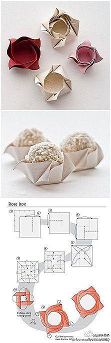 Swirl paper box
