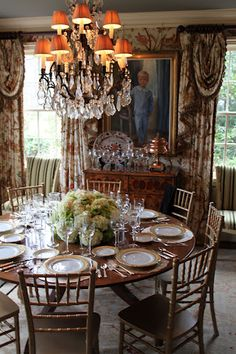 Elegant Yet Friendly Dining Room The Only Thing Missing Is Chair Pads Those Chairs Look Awfully Uncomfortable By James Farmer Landscape Florals
