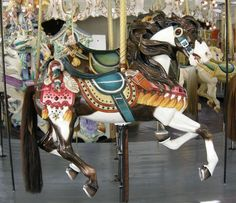 The 1895 Looff Carousel at Carousel Park Riverside, RI