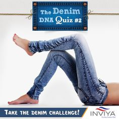We are back with the Denim DNA Challenge! This time, can you tell us, what were denims originally called? a)serge de Nimes b)Fabien Gaudet c)Denis Bellec Share your answers below. Fashion Quiz, Challenges, Denim, Pants, Trouser Pants, Women's Pants, Women's Bottoms, Jeans Pants, Jeans