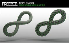 C4D - Create a rope using displacement maps