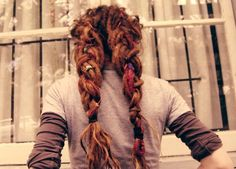 i'm pretty sure this is a guy - but i'm pinning because i like the braids