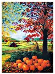 Genial Autumn Splendor House Flag