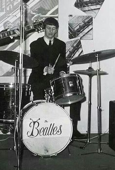 Ringo Starr Playing His Premier Kit 1963