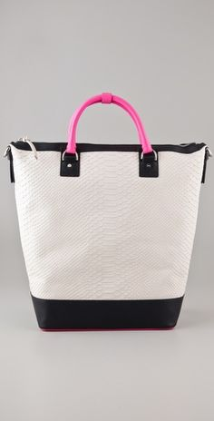 Diane von Furstenberg  Sporty Drew Embossed Python Bucket Tote  Style #:DIAVF40602  $895.00