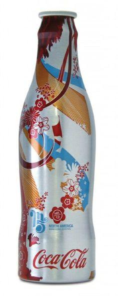 "Coca-Cola ""Magnificent 5"" (M5) aluminum bottle designed by MK12 (2005)"