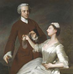 Portrait of Sir Edward And Lady Turner, 1740 by Allan Ramsay (Scottish 1713-1784)
