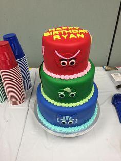 PJ Masks Birthday cake by my talented husband.