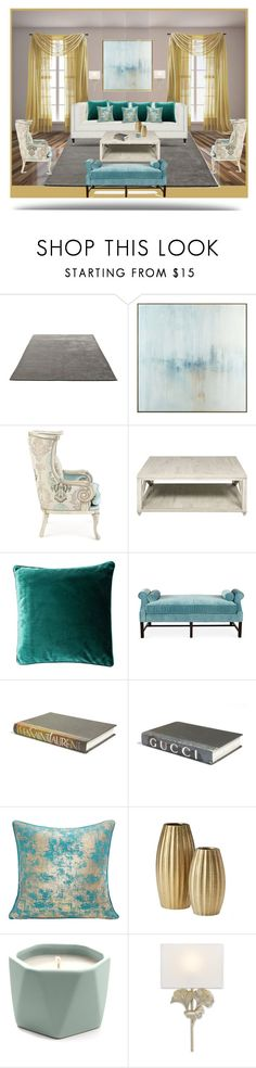 """""""Living Room : Pop of gold"""" by delta14o6 ❤ liked on Polyvore featuring interior, interiors, interior design, home, home decor, interior decorating, &Tradition, John-Richard, Massoud and Kristin Drohan Collection"""