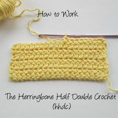 Great tutorial on the Herringbone Half Double Crochet Stitch by Crochet Nirvana.