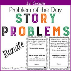Problem of the Day story problems for 1st grade