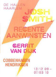 Campaign image Josh Smith @De Hallen Haarlem. #dehallenhaarlem #cobbenhagenhendriksen #joshsmith #graphicdesign