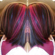 Work from today using @pravana Vivids Blue, Violet, and Wild Orchid. LOVE.  #pravana #vivids #salon #hairstylist #hair #hairstyle #haircut #haircolor #hairwizard #hairart #hairpaint #mermaidhair
