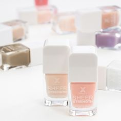 We're prepping for spring with these lovely Formula X nail strengthener polishes. The wash of colors are so dreamy and the formula has so many nutrients it's like a multivitamin for your nails.