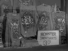 Monster sweatshirts. Man, can I have one?