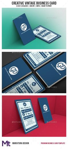 Creative Vintage Business Card  #template #creative #business