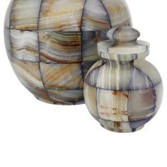 Mosaic Blue Onyx Extra Small Urn for Ashes | Available at Stardust Memorials