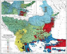 Ethnographic map of European Turkey, around 1910? #map #turkey