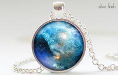 Nebula Necklace Space Galaxy Art Pendant  Nebula by FrenchHoney, $14.50