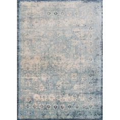 Lend antique-inspired appeal to your master suite or guest room with this lovely rug, showcasing distressed details and a Persian-inspired motif....