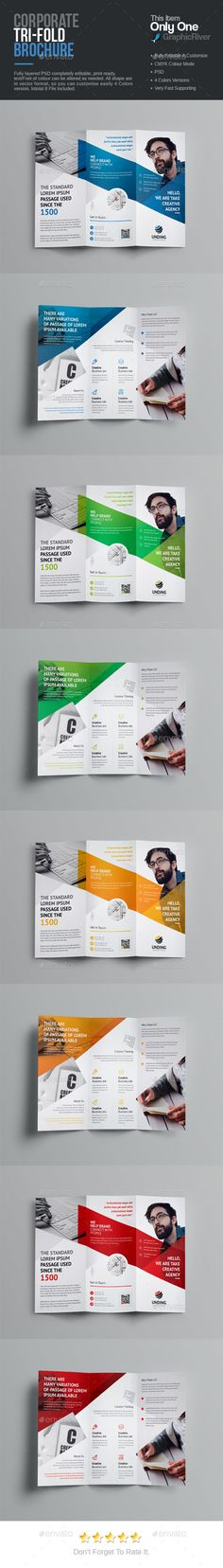 Square TriFold Brochure Template Psd  Brochure Templates