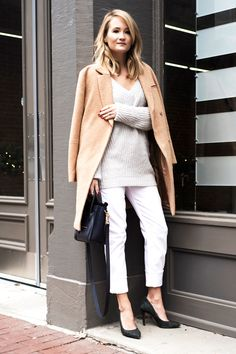 winter white and camel.