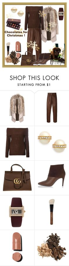 """""""I'm Dreaming of a Chocolate Christmas 🎄"""" by klm62 on Polyvore featuring Federica Tosi, Dorothy Perkins, Kate Spade, Gucci, Pierre Hardy and Cartier"""