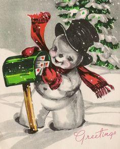 Snowman getting mail